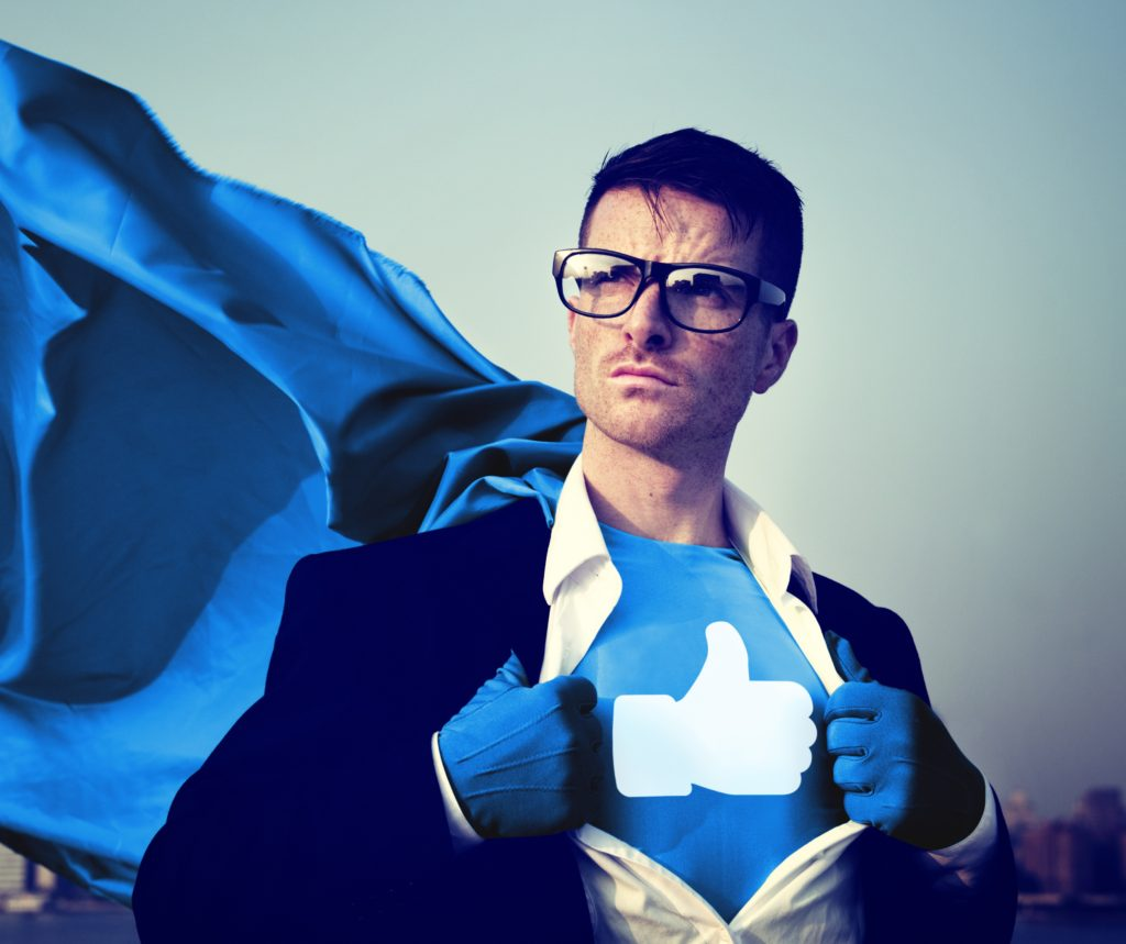 Social Media Superhero Facebook